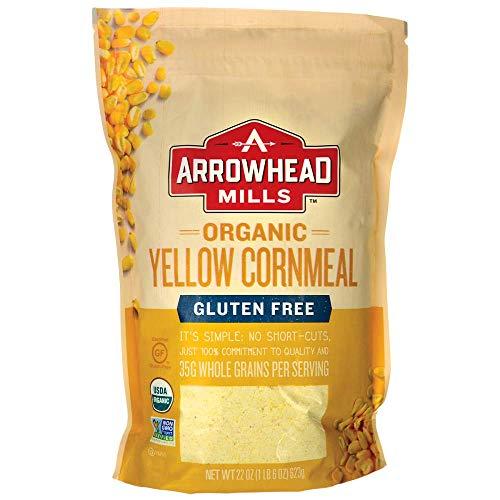 Arrowhead Mills Cornmeal Yellow Organic, 22 oz (Organic Corn Flour)