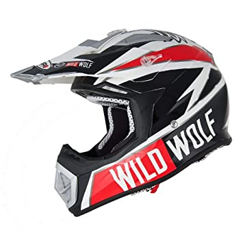 OFF ROAD-CASCO SHIRO MX-912 WILD WOLF ÚNICO TALLA M
