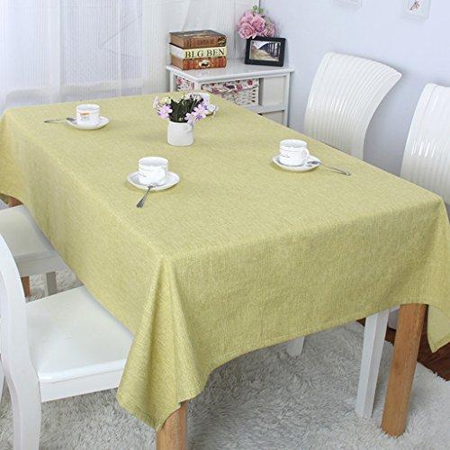 A Rectangle-140220cm Nappe européenne Nappes rectangulaires - Linge de table monochrome minimaliste moderne lin conférence   cuisine nappes rectangulaires (Couleur   A, taille   Rectangle-140  220cm)