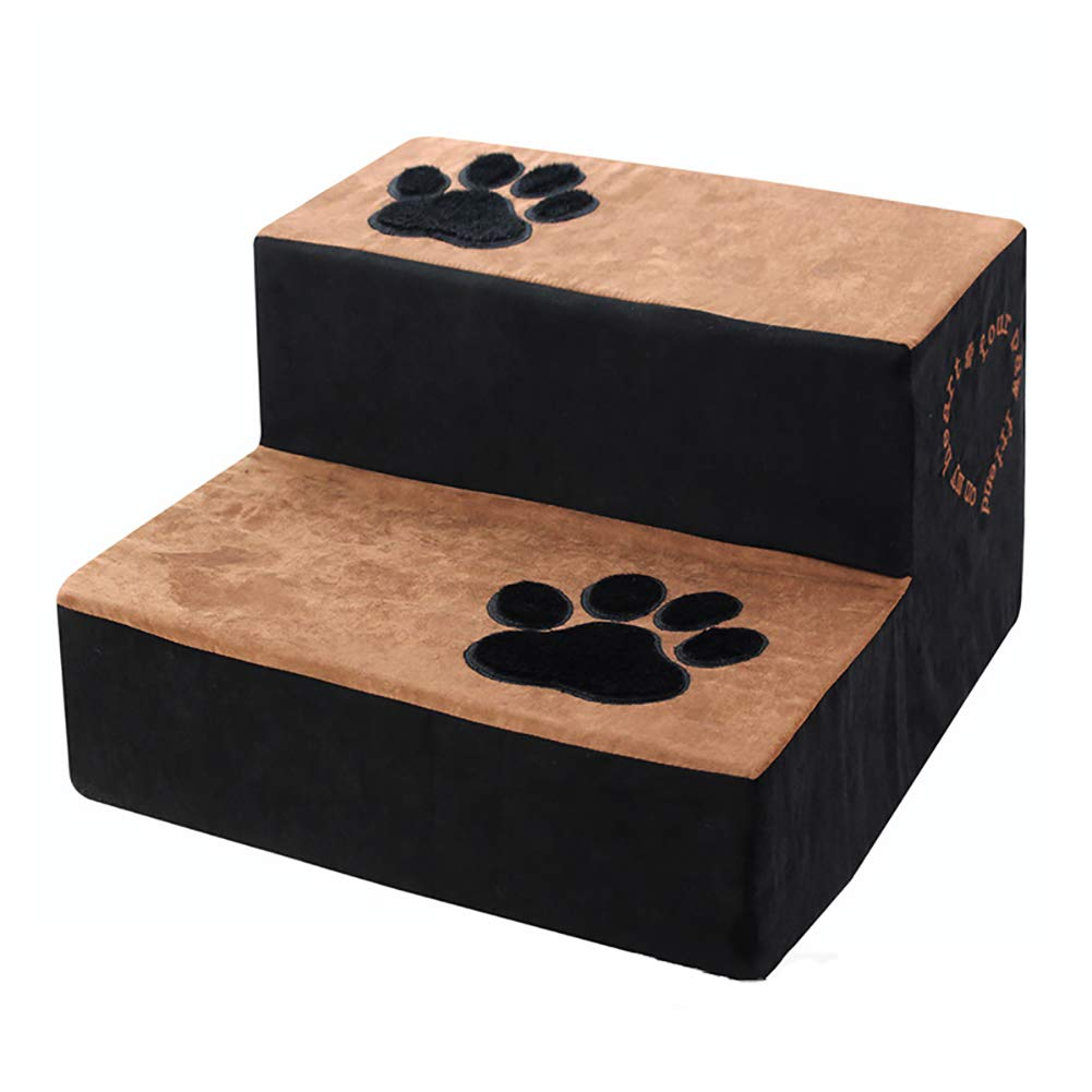 LXLA Lightweight 2 Steps Pet Stairs for Dogs and Cats, Great for Sofa and Bed,Removable Washable, 40 × 40 × 24cm