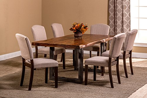 Hillsdale Emerson 7-Piece Rectangle Dining Set- Natural Sheesham