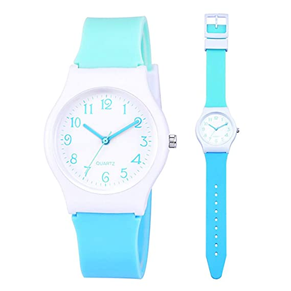 Amazon.com: Kids Boys Girls Children Watches,Teen Student Time Teacher Watch Resin Band Wristwatches for Boys Girls(Yellow): Watches