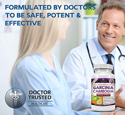Evergenics Garcinia Cambogia Extract Weight Loss Formula - 95% HCA - Ultimate Strength - 180 Capsules