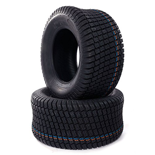 23x10.5-12 Lawn Mower Turf Tires Golf Cart 23x10.50x12 Turf Tread Tractor 4 Ply Tire, Set of 2