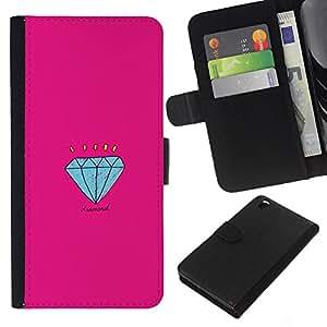 EJOY---La carpeta del tirón la caja de cuero de alta calidad de la PU Caso protector / HTC DESIRE 816 / --Compromiso Historieta rosada