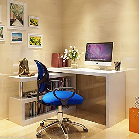 office corner desk. Furnitureboxuk \u201cSiena\u201d White High Gloss Computer PC Home Executive Study Office Corner Desk C