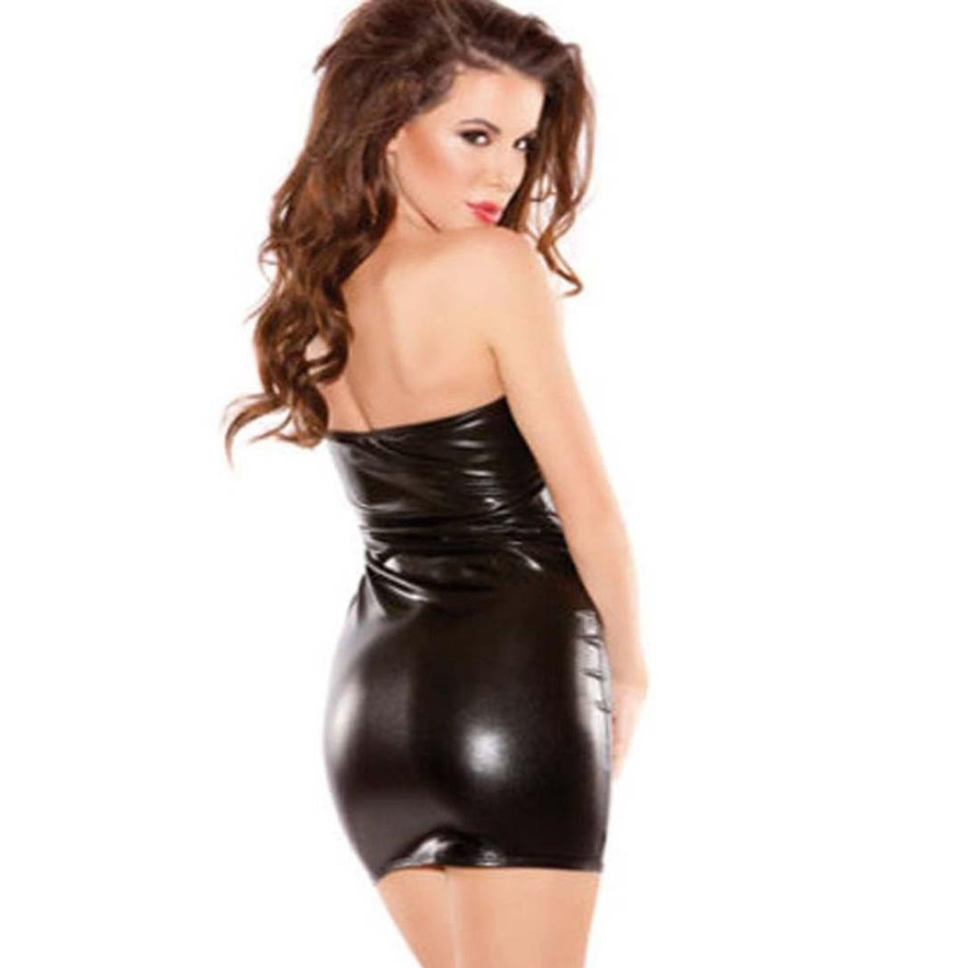 Overdose Women Sexy Hot Sleeveless Dress Clubwear Stripper Apretado Dress (Medio, Negro): Amazon.es: Ropa y accesorios