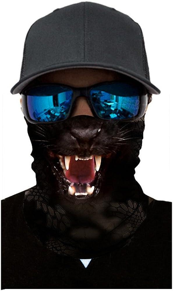 Animal Bedrucktes Stirnband Winddicht Motorradschal f/ür Outdoor Radsport Sport Neck Gaiter Bandana RYTEJFES 3D Halstuch Kopftuch Radfahren Multifunktionstuch