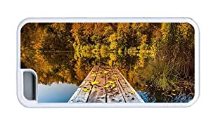 Hipster DIY iPhone 5C cover autumn lake TPU White for Apple iPhone 5C