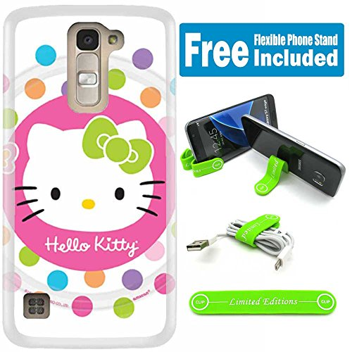 [Ashely Cases] ZTE Zmax Pro Cover Case Skin with Flexible Phone Stand - Hello Kitty Lollipop (Hello Kitty Phone Case For A Zte)