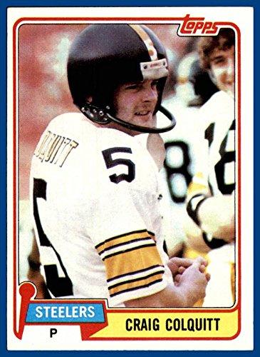 1981 Topps #31 Craig Colquitt PITTSBURGH STEELERS TENNESSEE VOLUNTEERS (nrmt) ()