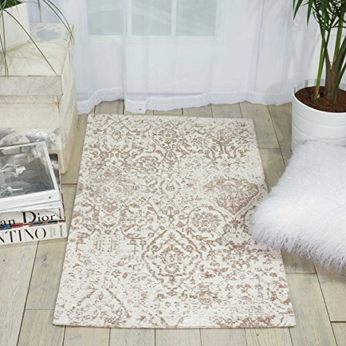 Nourison Damask (DAS06) Vintage Distressed Accent Area Rug, 2 Feet 3 Inches 3 Feet 9 Inches (2'3