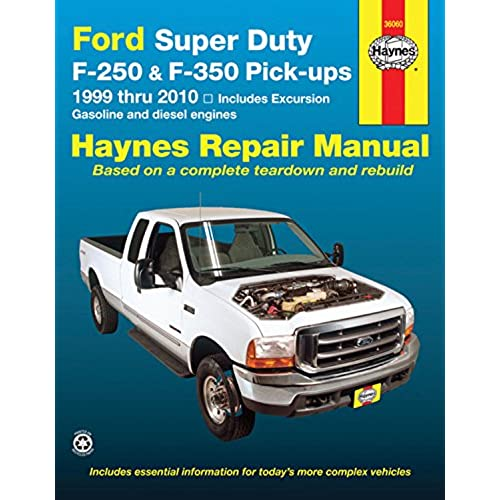 ford super duty f 250 f 350 pick ups and excursion 1999 2010 rh amazon com F250 Ball Joint 85 F250 Manual