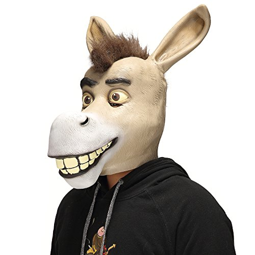 Mo Fang Gong She Christmas Funny Costume Party Animal Props, Halloween Comedy Show Donkey Mask