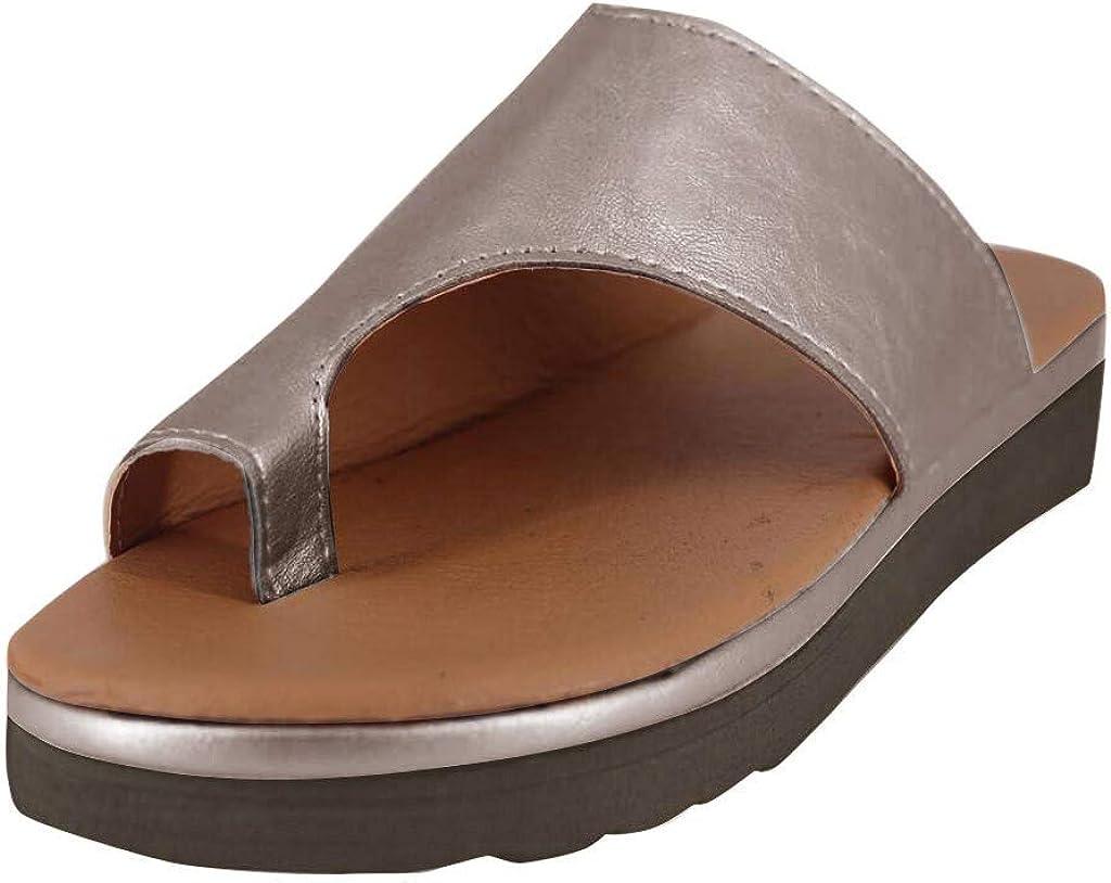 Sandals for Women Wide Width,2020 Comfy Platform Sandal Shoes Comfortable Ladies Shoes Summer Beach Travel Flip Flops