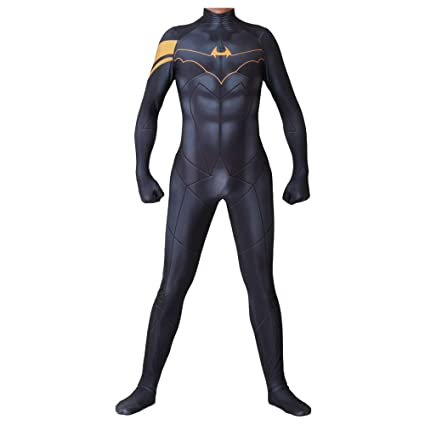 Amazon.com: Batman Cosplay Costume Adult Siamy Tights ...