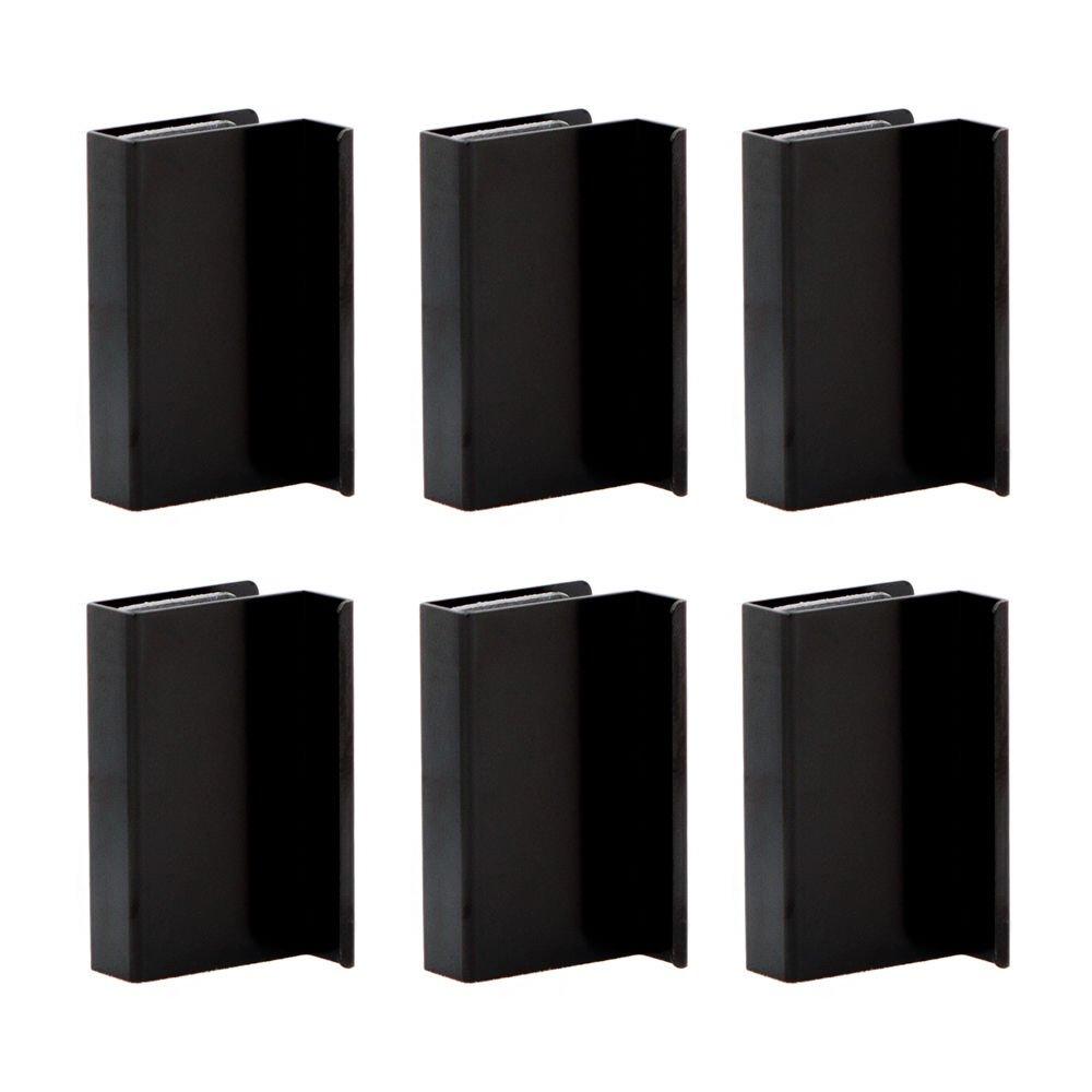 6 x Black Sliding Glass Door Finger Pulls Orimiu