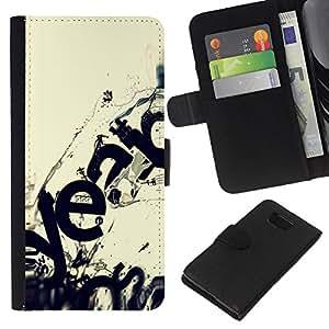 All Phone Most Case / Oferta Especial Cáscara Funda de cuero Monedero Cubierta de proteccion Caso / Wallet Case for Samsung ALPHA G850 // Modern Art Ecosystem Wave Destruction