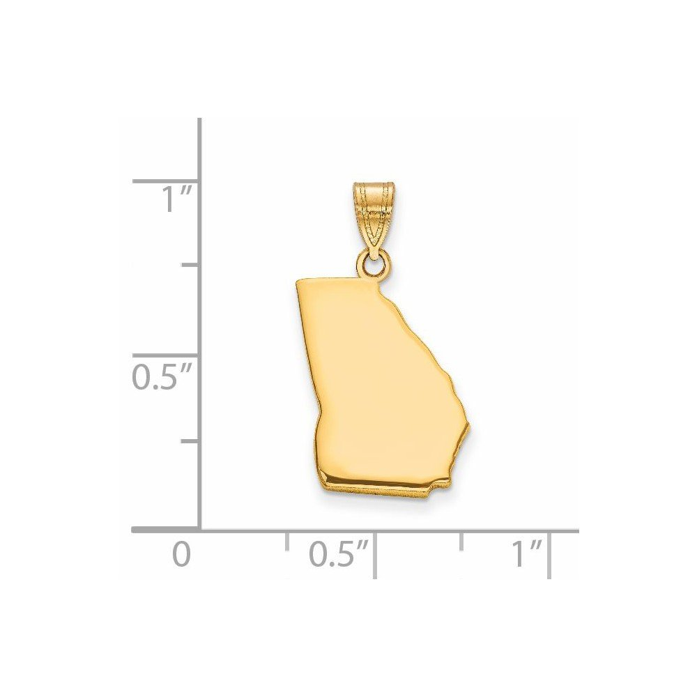 Jewel Tie Gold-Toned GA State Pendant Bail Only