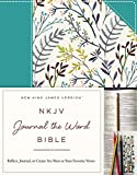 NKJV, Journal the Word Bible, Cloth over Board, Blue Floral, Red Letter Edition: Reflect, Journal, or Create Art Next to Your Favorite Verses