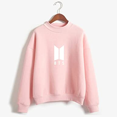 FLAMINGO_STORE Hoodies for Women BTS Hoodies for Women Men Bangtan Boys BTS Album Hoodie Pink