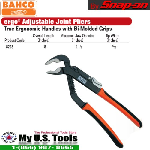 Bahco 8223 Adjustable Joint Pliers, 8-Inch by Bahco