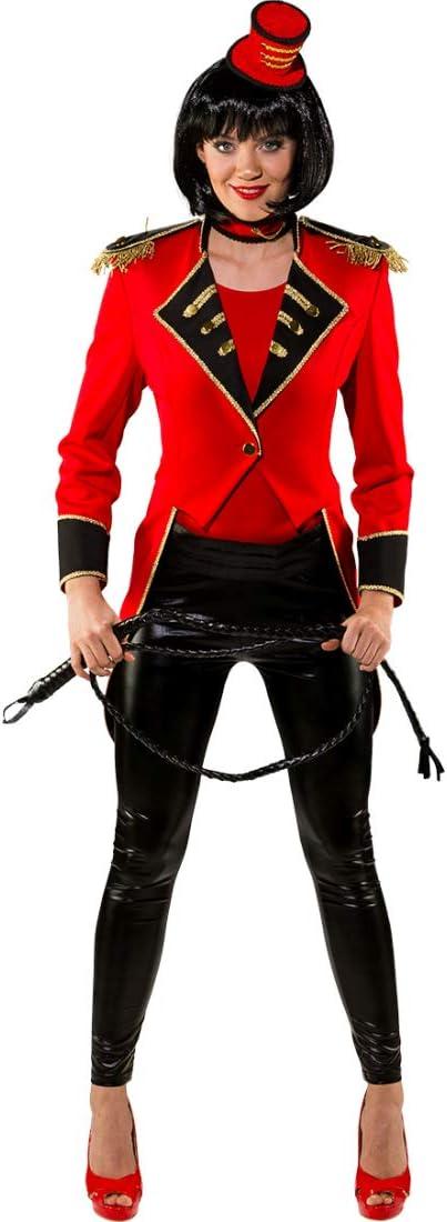 NET TOYS FRAC de domador Elegante para Mujer   Rojo-Negro en Talla ...