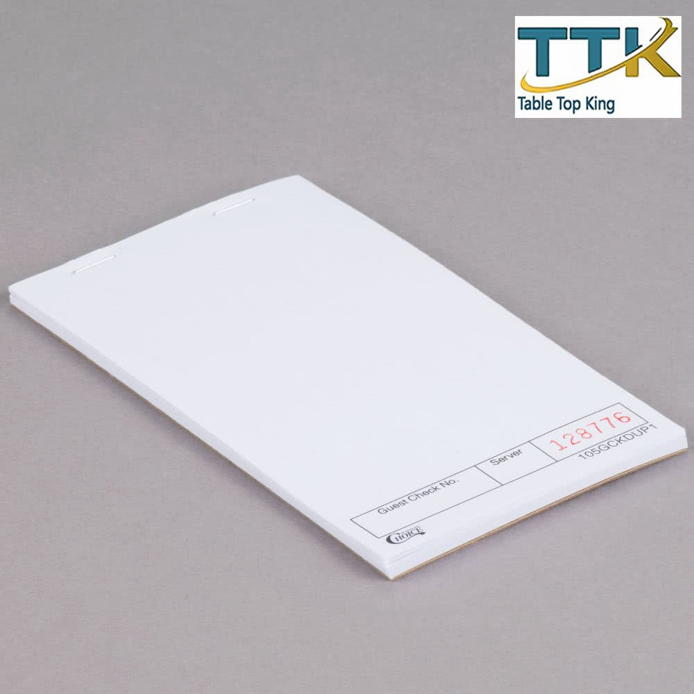 Amazon com: 1 Part White Blank Guest Check with Carbon Sheet