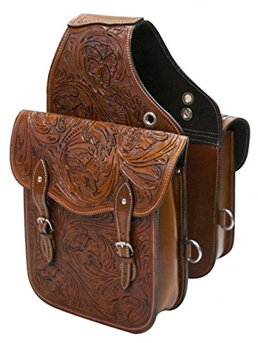 Showman Tooled Leather Saddle Bag by Showman (Image #1)