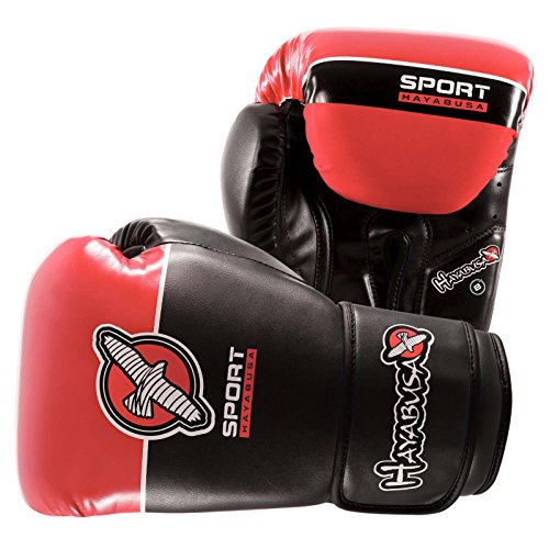 Hayabusa Sport Boxing Gloves (Black/Coral, 8 oz)