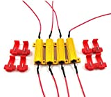 #10: ICBEAMER 4 Pieces Fit 1156 50 Ohms 1156 LED Load Resistors Fix the Flickering All LED Front Rear Turn Signal Tail Light