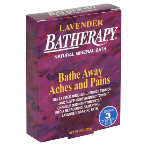 Queen Helene Batherapy Mineral Bath Salts, Lavender, 3 Ounce (Pack of 2) [Packaging May Vary] (Batherapy Bath Salts Mineral)