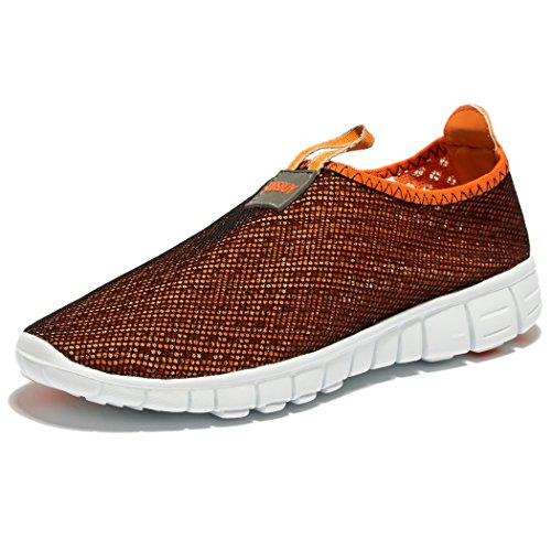 Scarpe Da Ginnastica Traspiranti In Mesh Traspiranti Uomini E Donne Outdoosr Slip-on Beach Aqua Shoes Orange