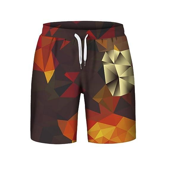 LEORTKS Hombre Deportes Pantalones Cortos de Playa 6D Estampado ...