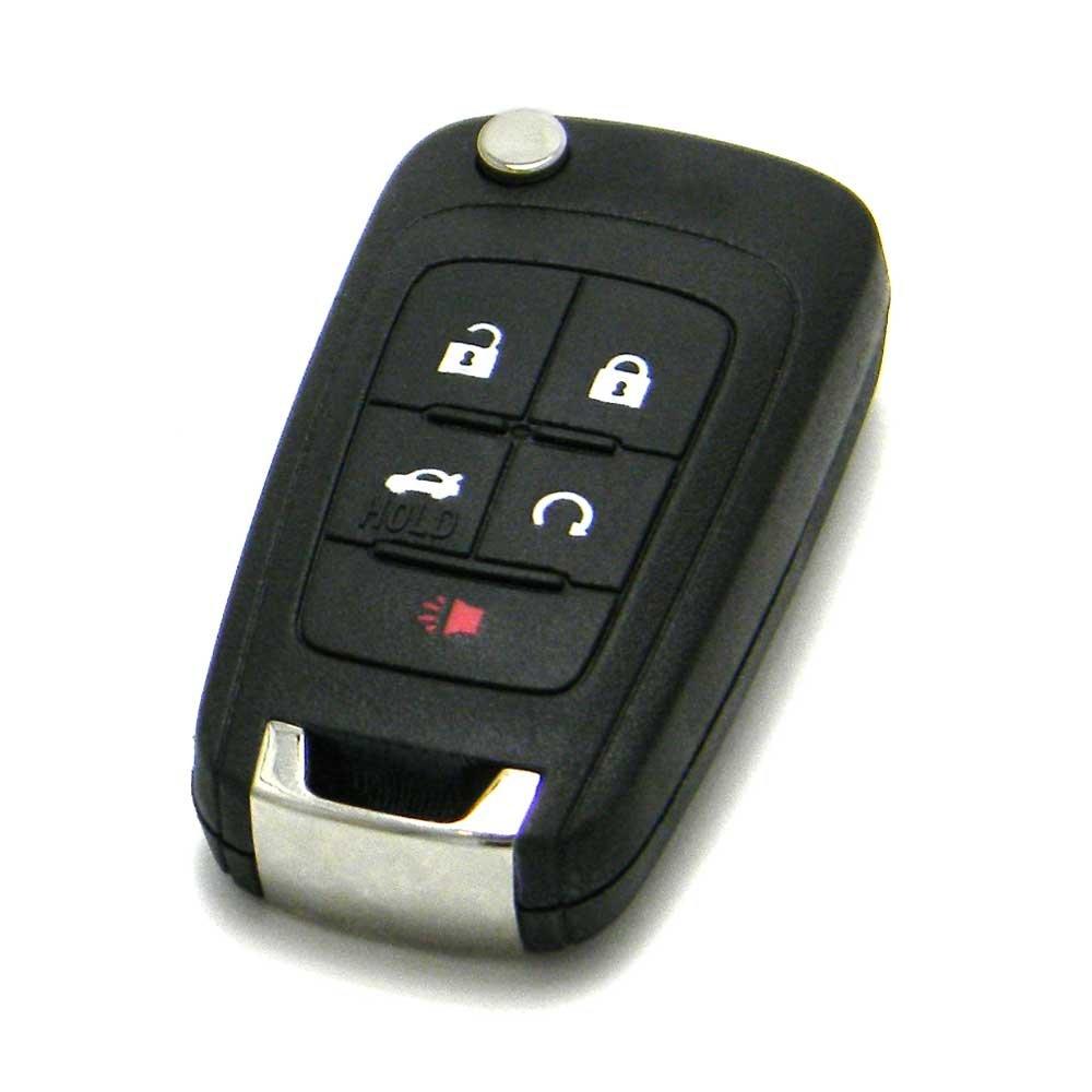 OEM GM Chevrolet Flip Key Keyless Entry Remote Fob (FCC ID: OHT01060512/P/N: 13504199, 13500221)