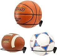 GoSports Wall Mounted Ball Stand Holder for Sports Balls (Basketballs, Soccerballs, Footballs) - 3 Pack