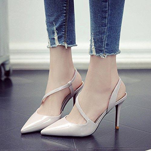 PU Zapatos Mujer Yukun Moda Gris Zapatos De 38 De De Otoño Primavera zapatos Moda Salvaje Tacón Otoño De De con tacón Gray Zapatos de De Zapatos alto Aguja Y gwURragnq