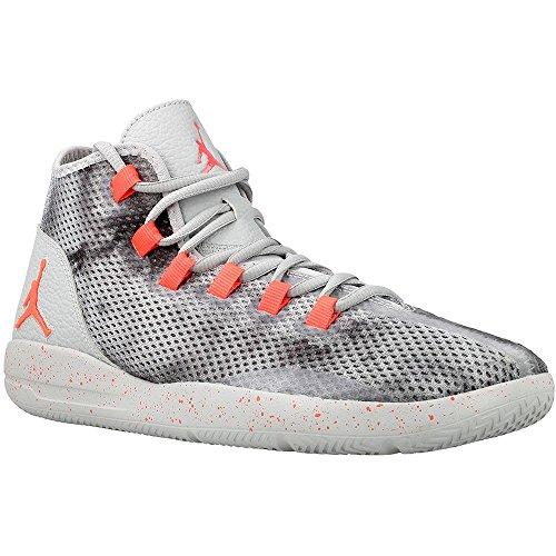 Jordan Nike Men's Reveal Prem Wolf Grey/Infrared 23/Black Basketball Shoe 9.5 Men US