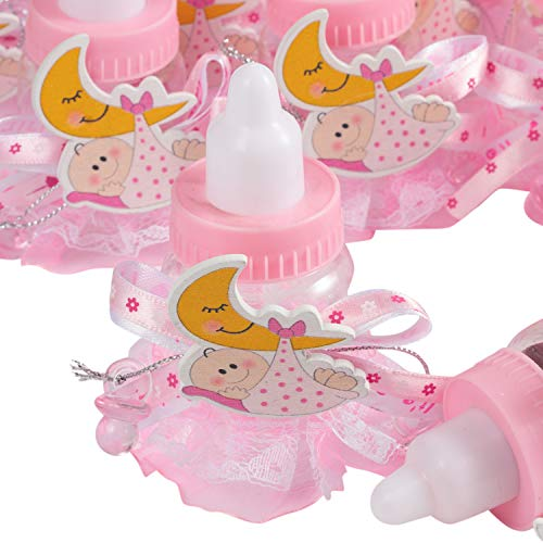 24Pcs Baby Candy Bottles Baby Shower Bottles Candy Bottle Party Candy Bottle Favor Box Baby Bottle Shower Favor Candy Favor Boxes for Newborn Girl Baby Shower]()