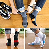AKOENY Men's Performance Athletic Quarter Socks for