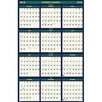 house of doolittle 2017 2018 four seasons wall calendar reversible 24 x 37. Black Bedroom Furniture Sets. Home Design Ideas