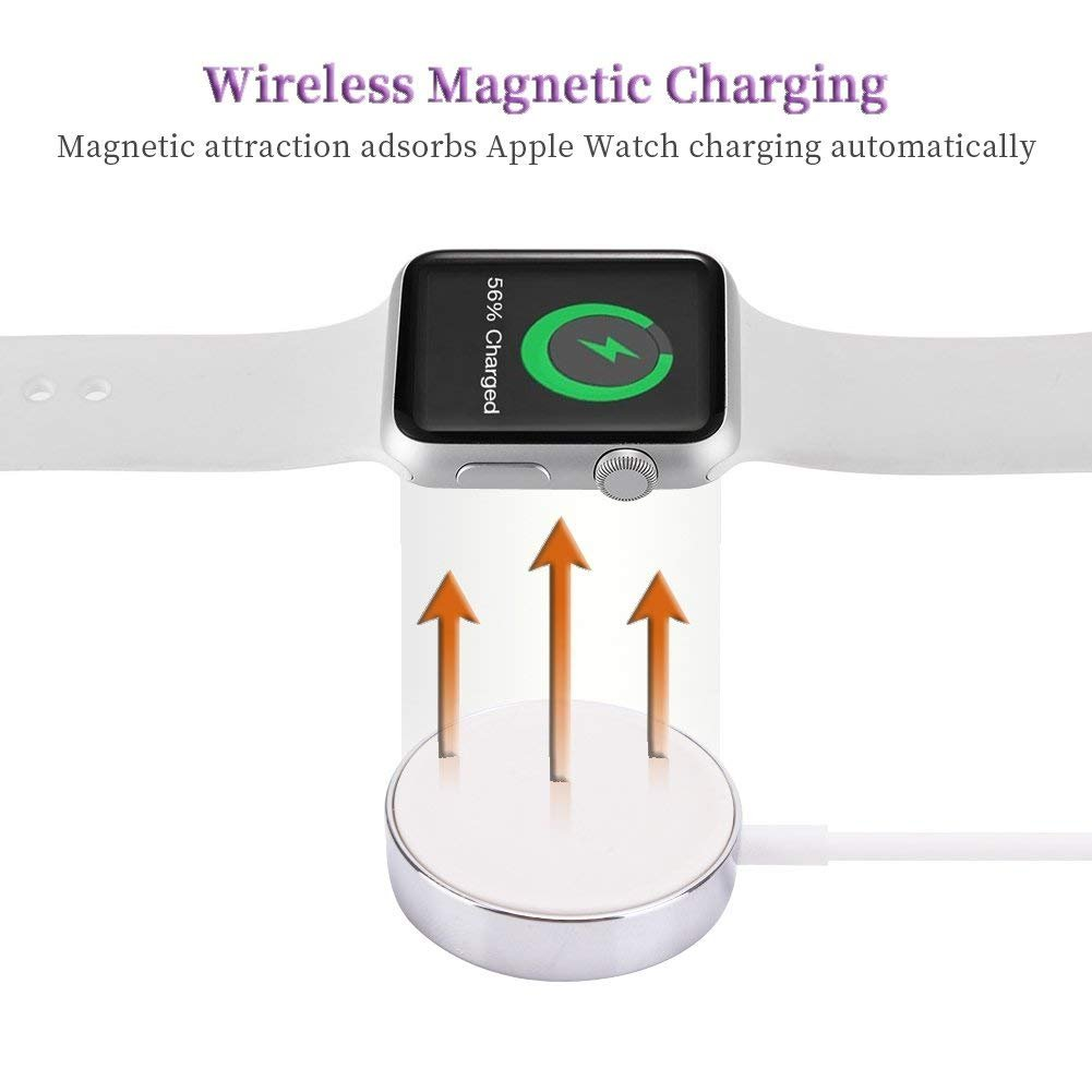 Apple Watch Charger, ATETION 1m Portable Wireless Charger for iWatch with MFI Certified Magnetic Charger for Apple Watch Series 1/2/3/Nike+/Edition/Hermès in 38mm & 42mm by ATETION (Image #7)