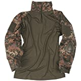 Army Tactical Warrior Shirt with Elbow Pads Flecktarn Camo by Mil-Tec