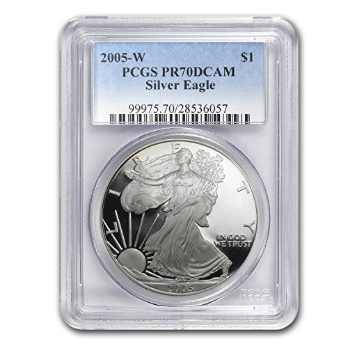2005 W Proof Silver American Eagle 1 OZ PR-70 PCGS