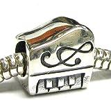 Sterling Silver Piano Keyboard Musical Instrument Music Note Treble Clef Bead For European Chamilia Biagi Troll Pandora Charm Bracelets