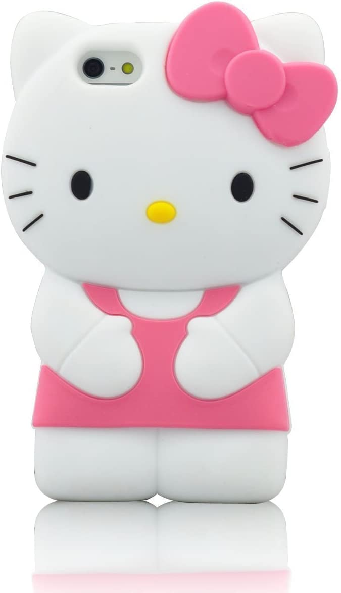 iPhone 6 Case, Phenix-Color 3D Cute Cartoon Monster Blue Giant Horn University Style Silicone Rubber Case for iPhone 6 4.7 Inch (Hello Kitty Pink)