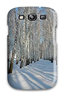For Galaxy Case, High Quality Winter Birch Trees For Galaxy S3 Cover Cases