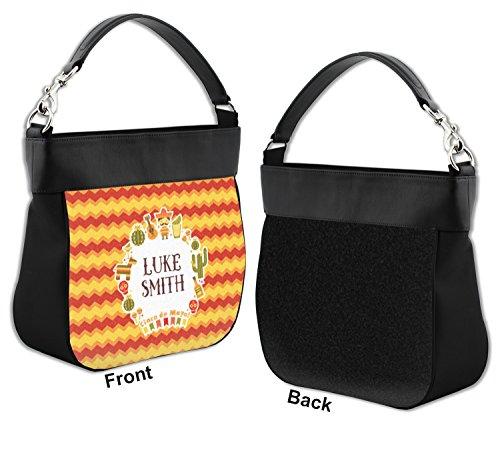 Purse de Mayo Leather w Cinco Genuine Hobo Fiesta Trim Personalized Front qgI65x7ww
