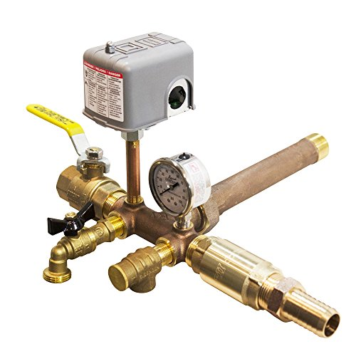 No-lead Brass Installation Tank Tee Package for Well X Trol Wx-201, 202, 202xl, 203 and Goulds V60, V80, V100 (Switch Assembly Tube Pressure)