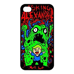 iPhone 4/4S Case, Asking Alexandria Hard TPU Rubber Snap-on Case for iPhone 4 / 4S by icecream design